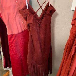 Lovers + Friends Dresses - Lovers and friends sleeveless fringe mini dress